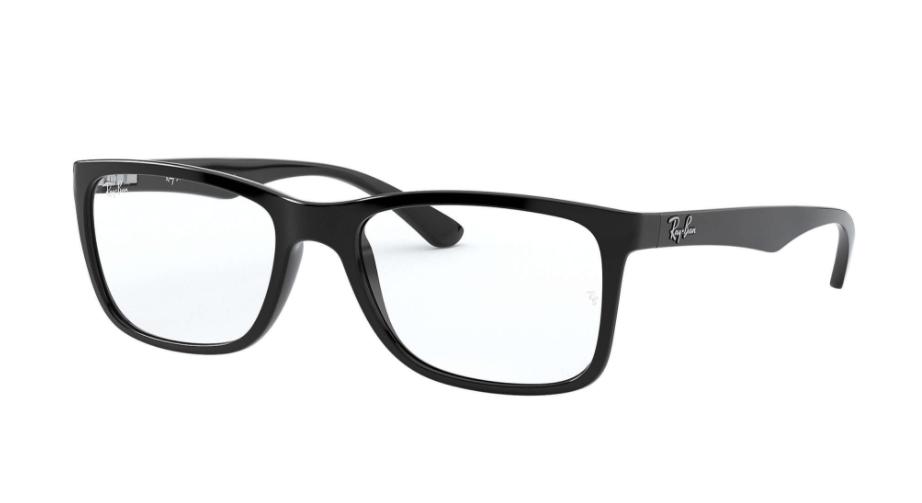 Óculos de Grau Ray-Ban Preto Fosco RB7027L - 2000/54