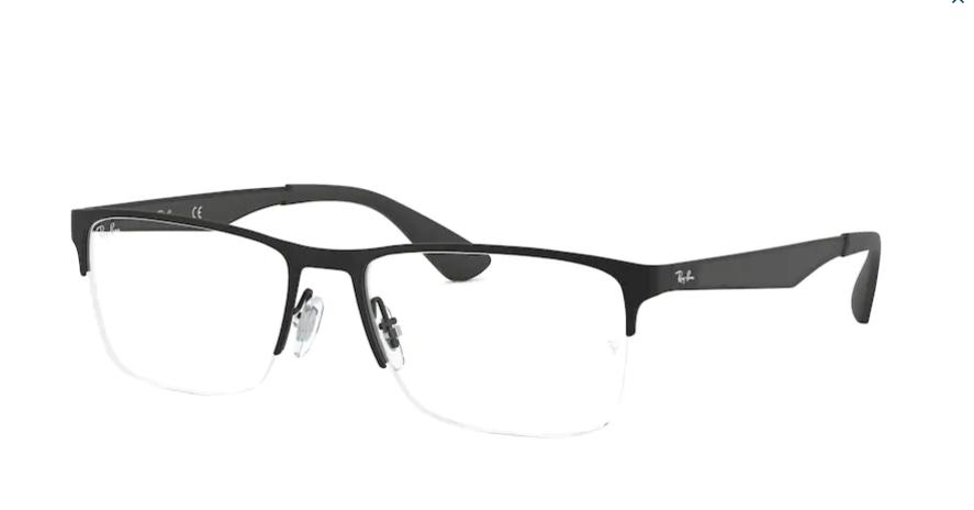 Óculos de Grau Ray-Ban Preto RB6335 - 2503/56