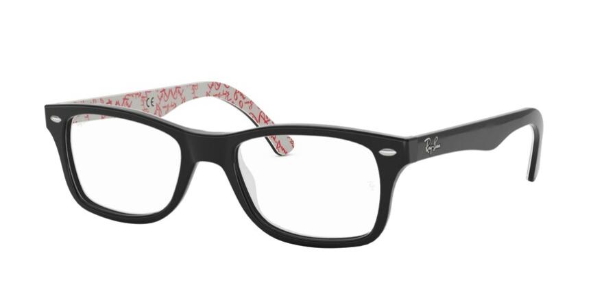 Óculos de Grau Ray-Ban Preto/Vermelho RB5228 - 2479/55