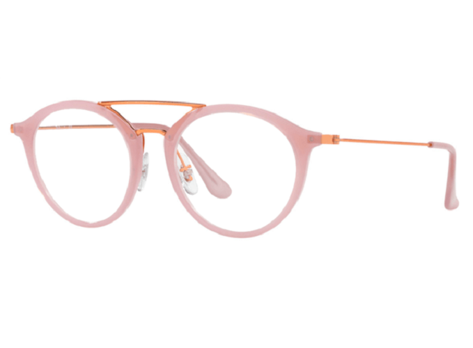 Óculos de Grau Ray-Ban Rosa/Bronze RB7097 - 5726/49