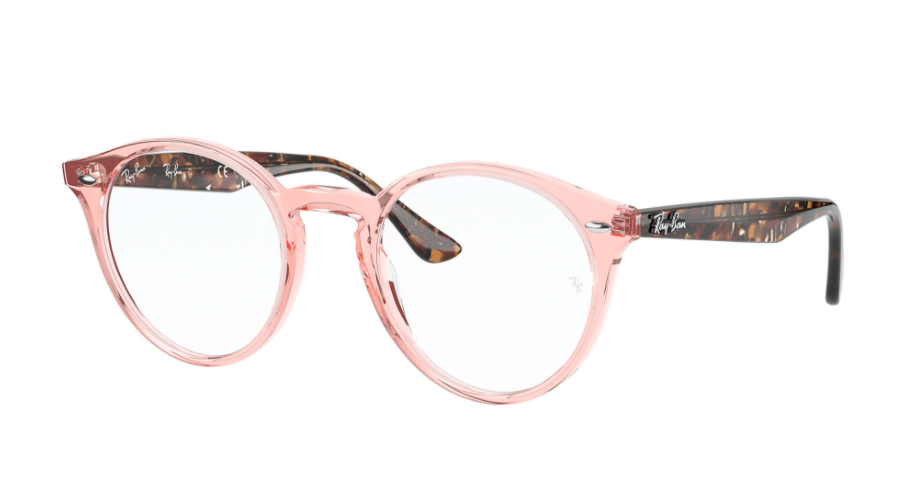 Óculos de Grau Ray-Ban Rosa Translúcido/Tartaruga RB2180V - 8081/49