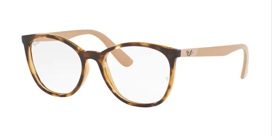 Óculos de Grau Ray-Ban Rosé/Tartaruga RB7161L - 5981/52