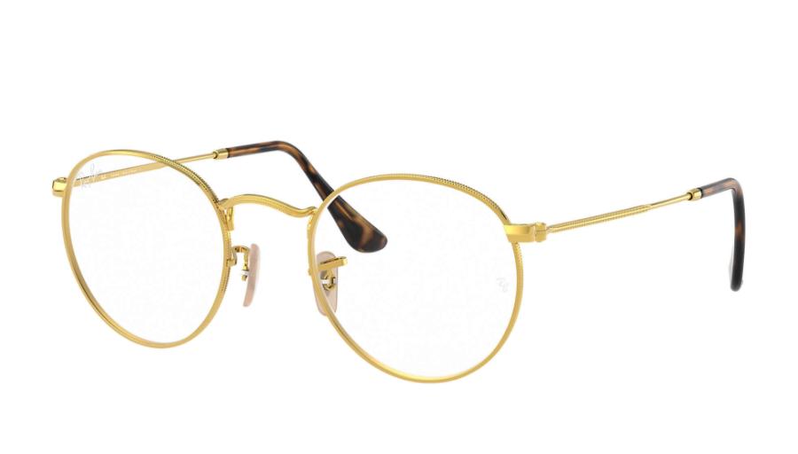 Óculos de Grau Ray-Ban Round Metal Optics Dourado RB3447VL - 2500/50
