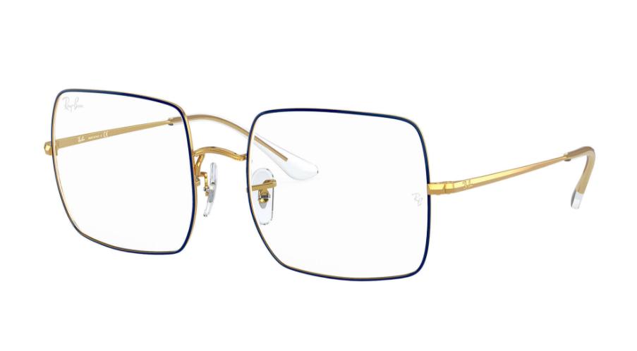 Óculos de Grau Ray-Ban Square Optics Azul/Dourado RB1971V - 3105/54