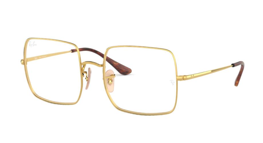 Óculos de Grau Ray-Ban Square Optics Dourado RB1971VL - 2500/54