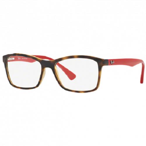 Óculos de Grau Ray-Ban Vermelho/Tartaruga RB7095L - 5653/53