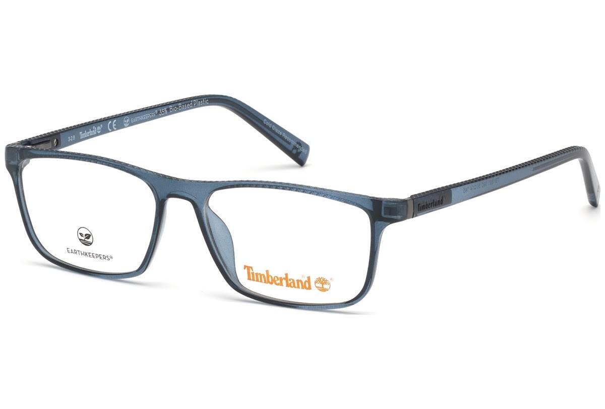 Óculos de Grau Timberland Azul Translúcido TB1631 - 090/57