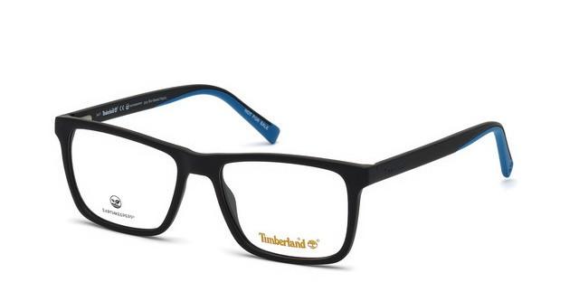 Óculos de Grau Timberland Preto/Azul TB1596 - 002/57