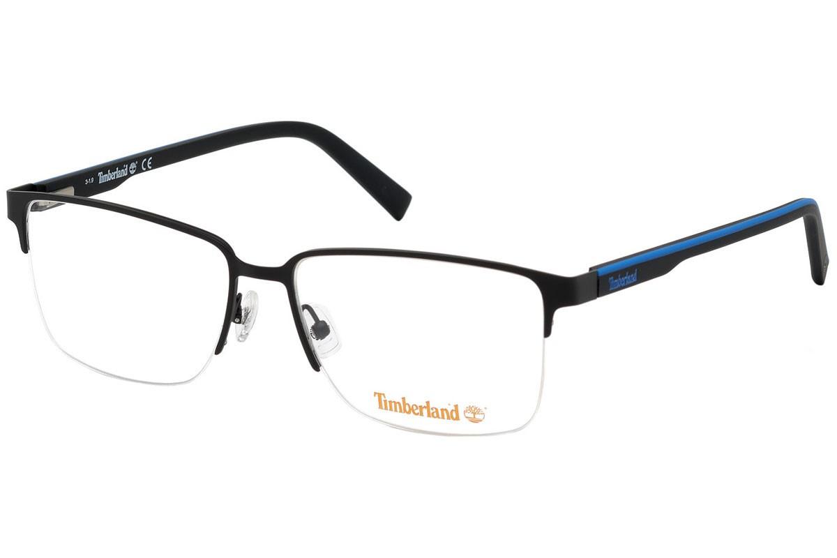 Óculos de Grau Timberland Preto/Azul TB1653 - 002/58