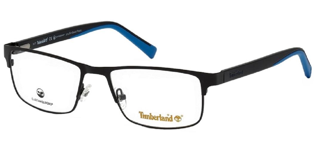 Óculos de Grau Timberland Preto Fosco/Azul TB1594 - 002/58