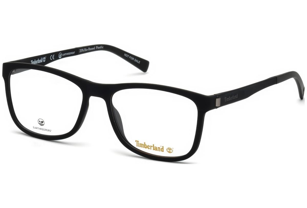 Óculos de Grau Timberland Preto Fosco TB1599 - 002/56