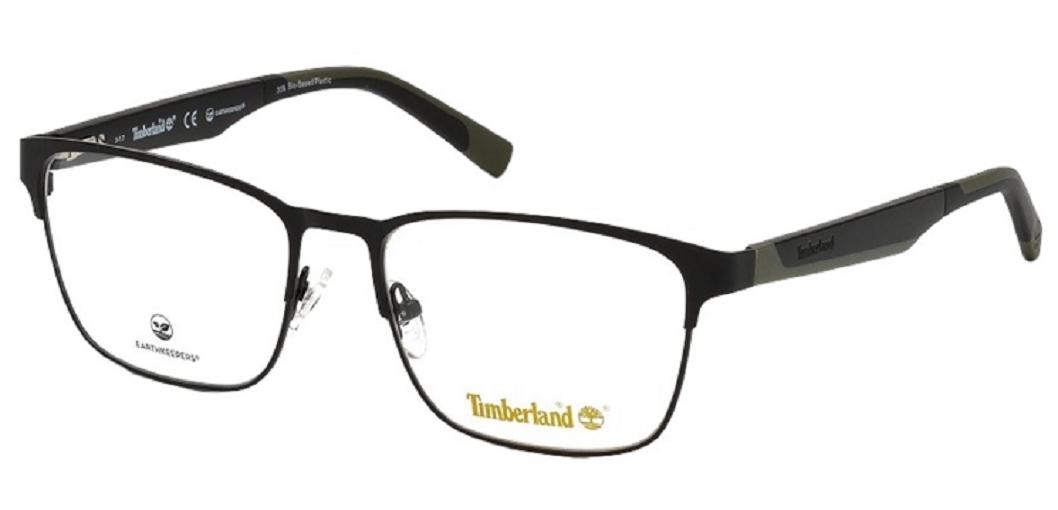 Óculos de Grau Timberland Preto/Verde TB1575 - 002/57