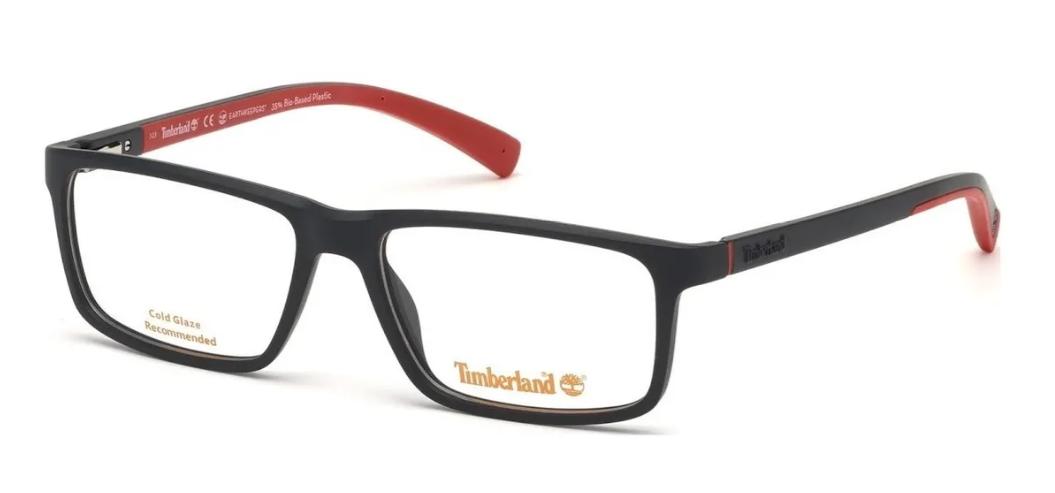 Óculos de Grau Timberland Vermelho/Preto TB1636 - 002/55