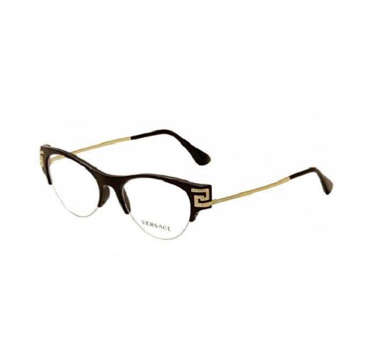Óculos de Grau Versace Preto/Dourado MOD3226/B - GB1/51