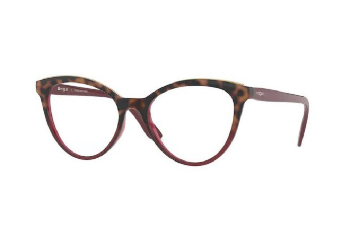Óculos de Grau Vogue Tartaruga/Bordô VO5297L - 2751/52