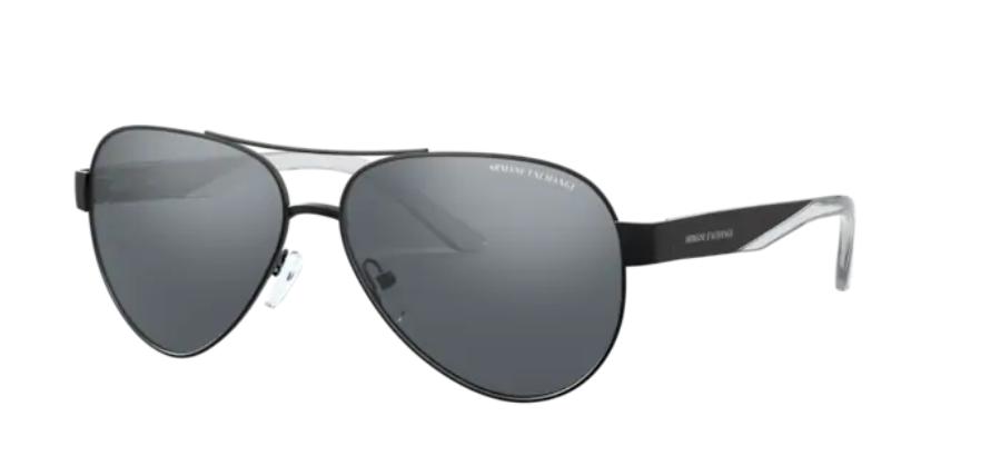 Óculos de Sol Armani Exchange Preto AX2034S - 60636G/59 Espelhado