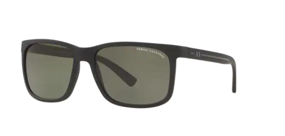 Óculos de Sol Armani Exchange Preto Fosco AX4041SL - 80789A/58 Polarizado