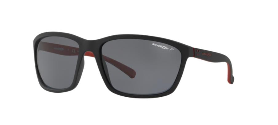 Óculos de Sol Arnette Hand Up Preto/Vermelho AN4249 - 254981/63 Polarizado