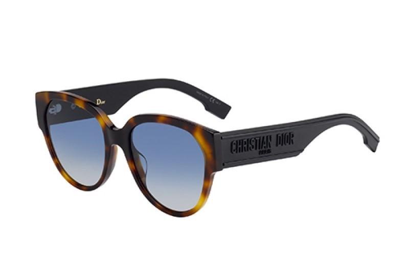 Óculos de Sol Dior Preto/Havana DIORID2 - 08684/55