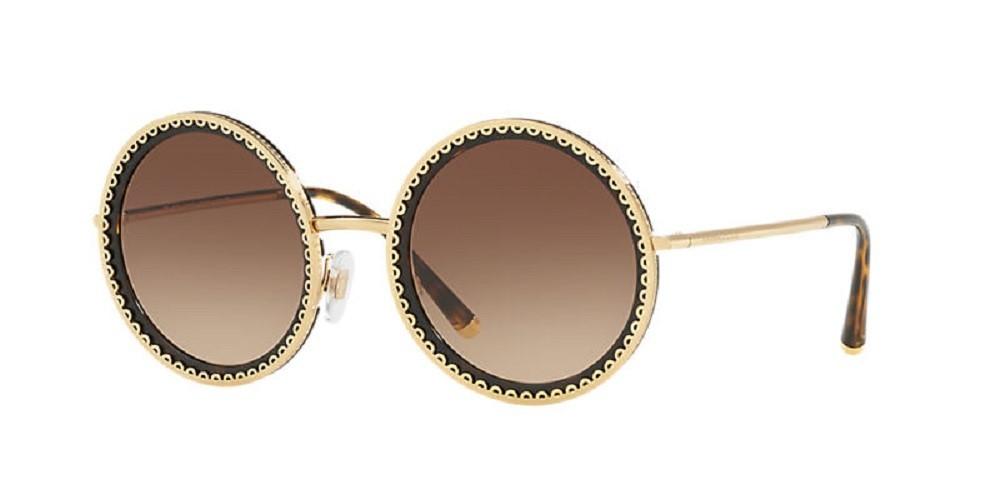 Óculos de Sol Dolce & Gabbana Marrom/Dourado DG2211 - 0213/53