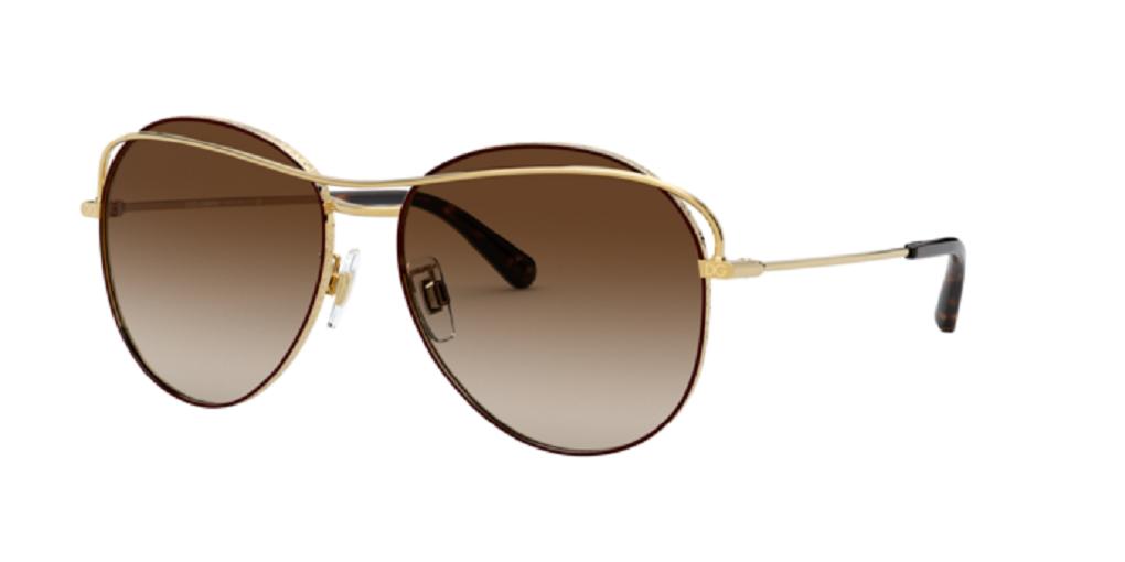 Óculos de Sol Dolce & Gabbana Marrom/Dourado DG2261 - 134413/58