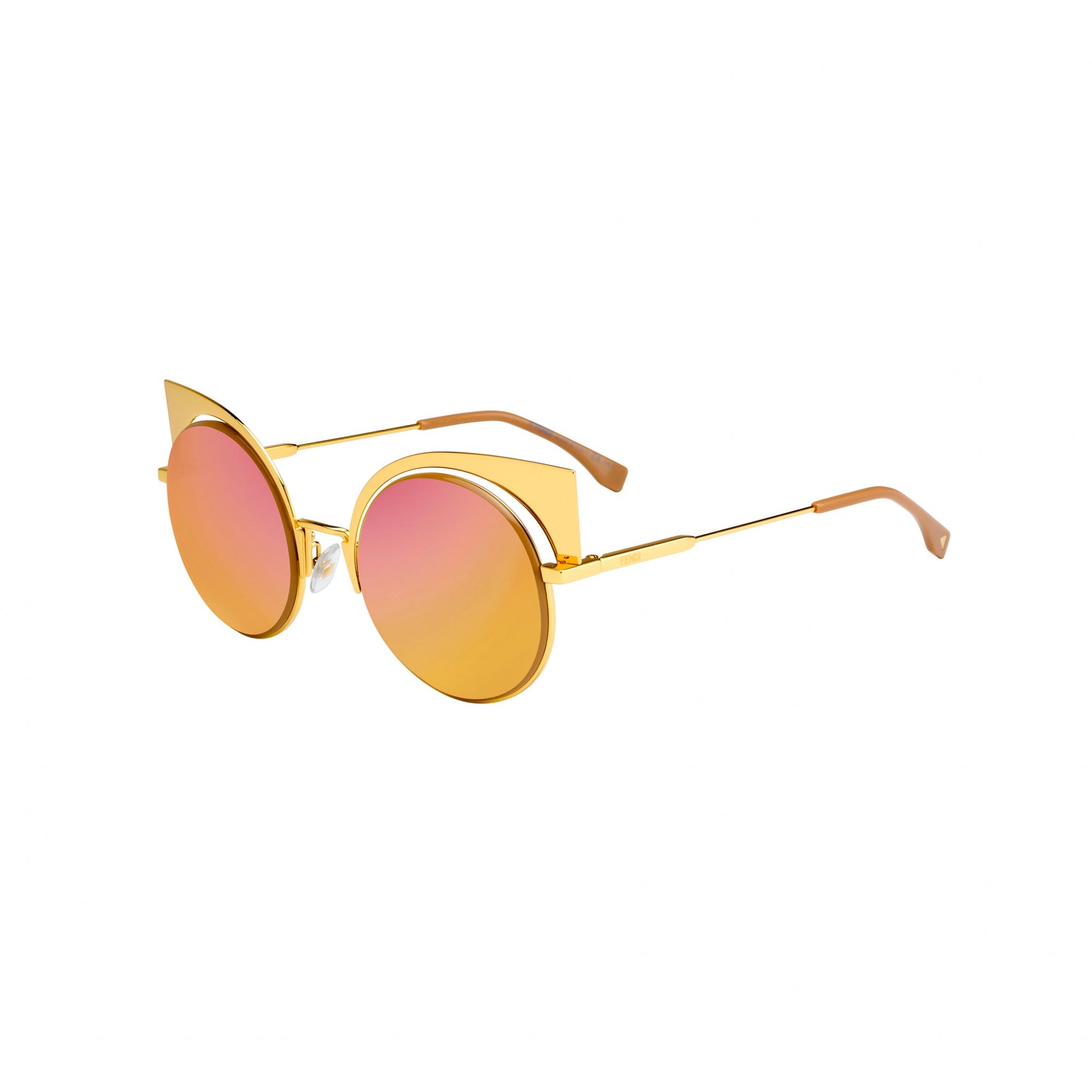 Óculos de Sol Fendi Dourado FF0177/S - 001/OJ/53 Espelhado