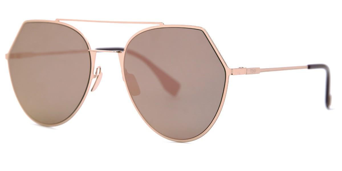 Óculos de Sol Fendi Dourado FF0194/S - DDB/AP/55 Espelhado