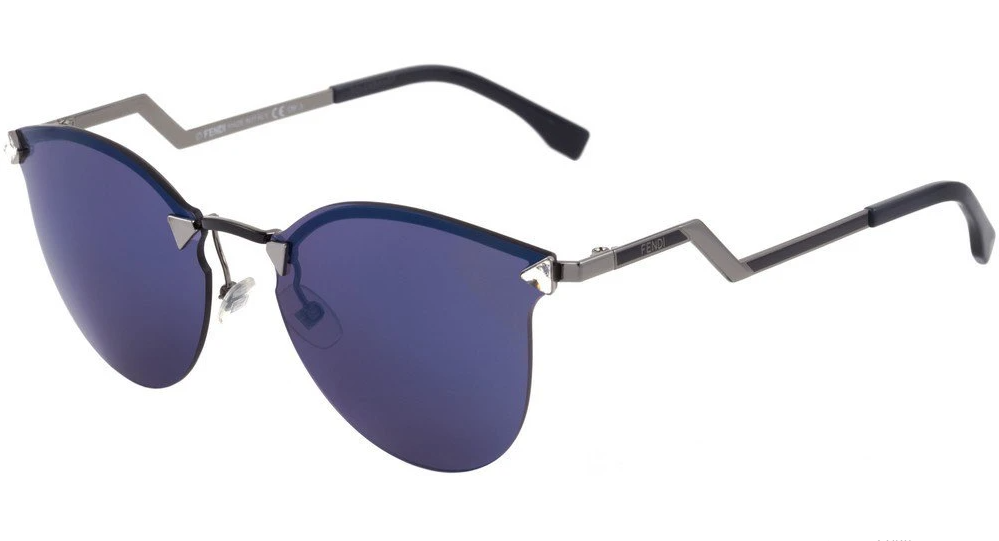 Óculos de Sol Fendi Grafite FF0040/S - LQJ/XT/60 Espelhado