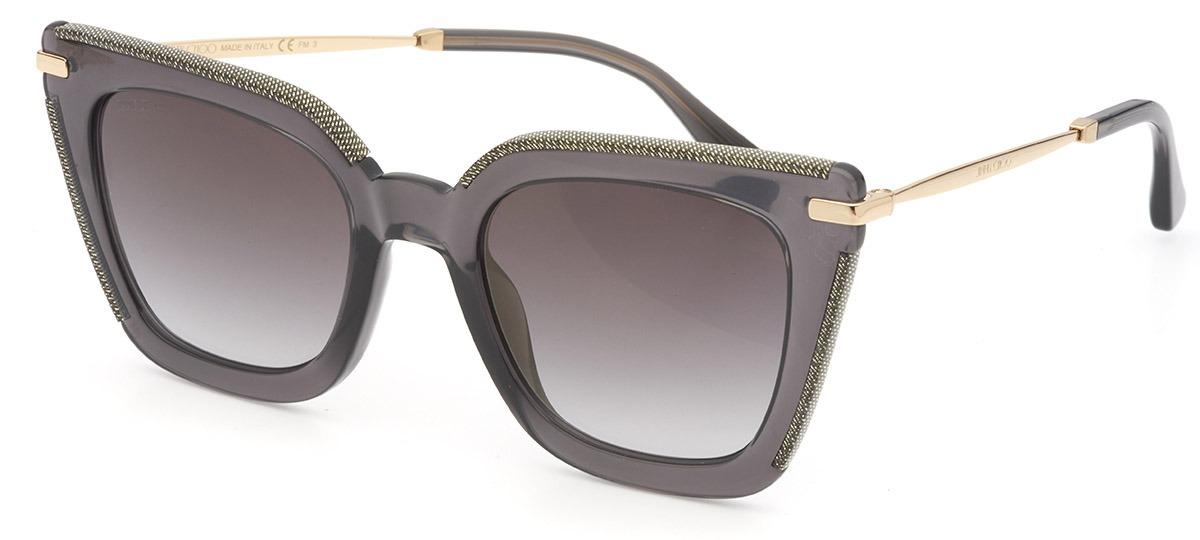Óculos de Sol Jimmy Choo Cinza/Dourado CiaraG/S - EIB/FQ/52
