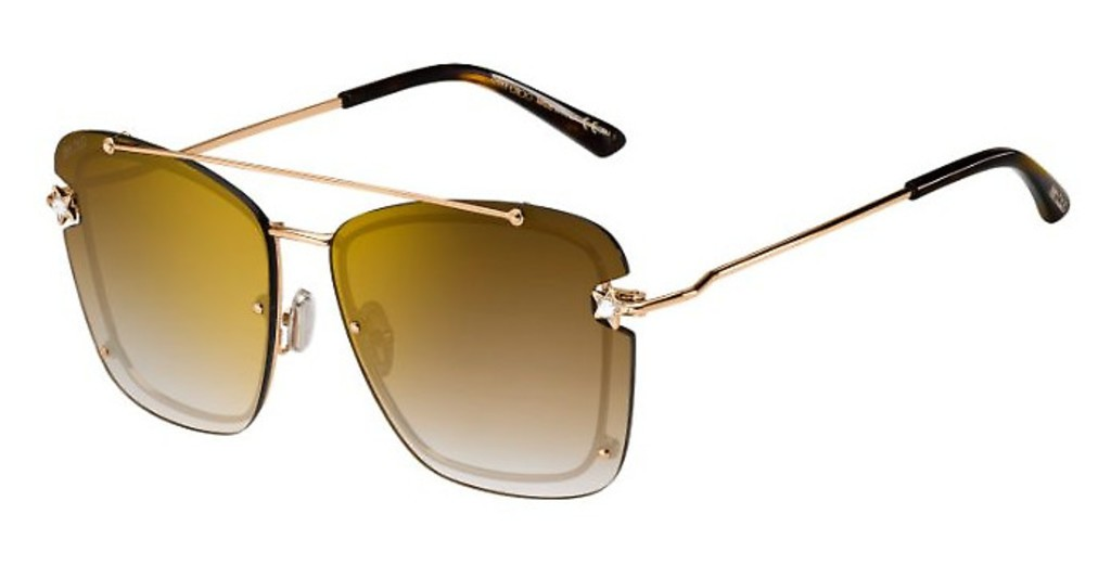 Óculos de Sol Jimmy Choo Dourado Ambra/S - DDB/JL/62