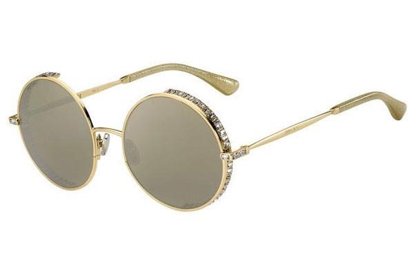 Óculos de Sol Jimmy Choo Dourado Goldy/S - J5G/JO/56