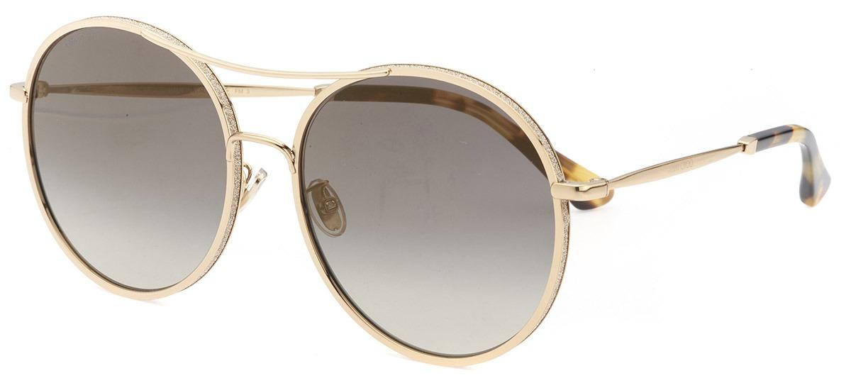 Óculos de Sol Jimmy Choo Dourado Leni/F/S - J5GFQ/60