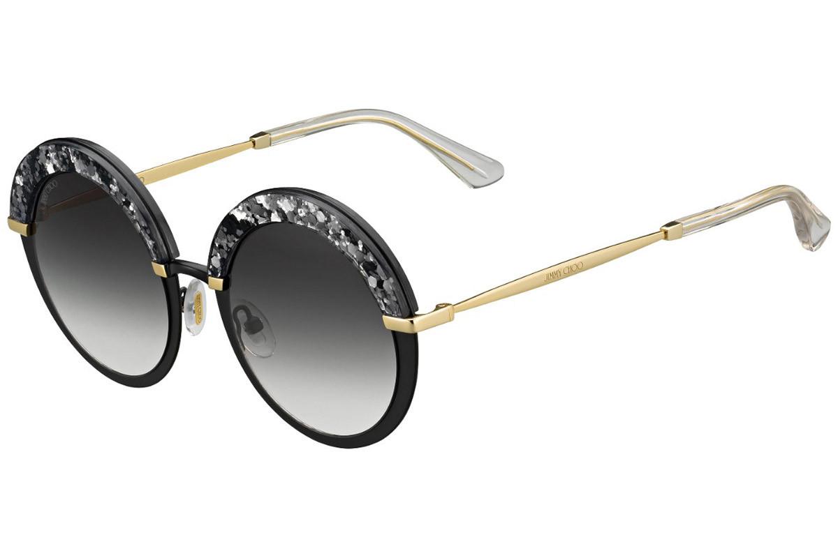 Óculos de Sol Jimmy Choo Dourado/Preto GOTHA/S - THP/9O/50