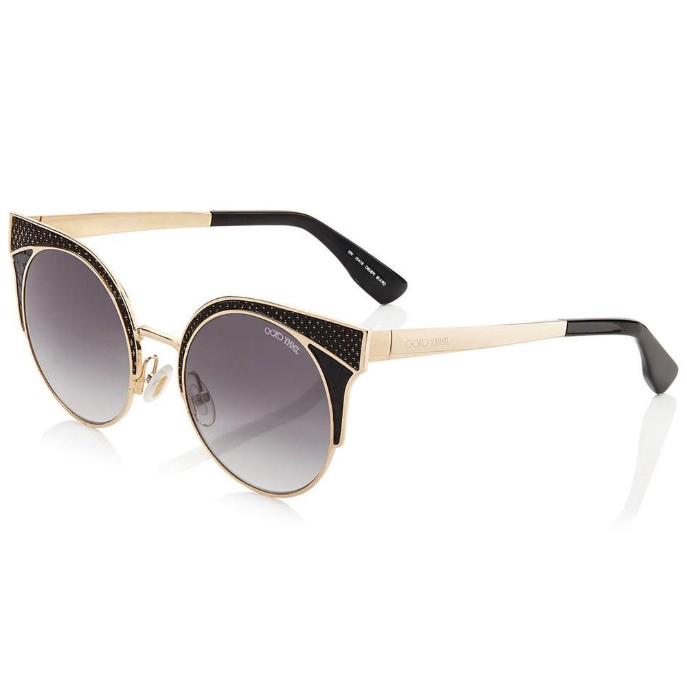 Óculos de Sol Jimmy Choo Dourado/Preto Ora/S - PSU/9C/51