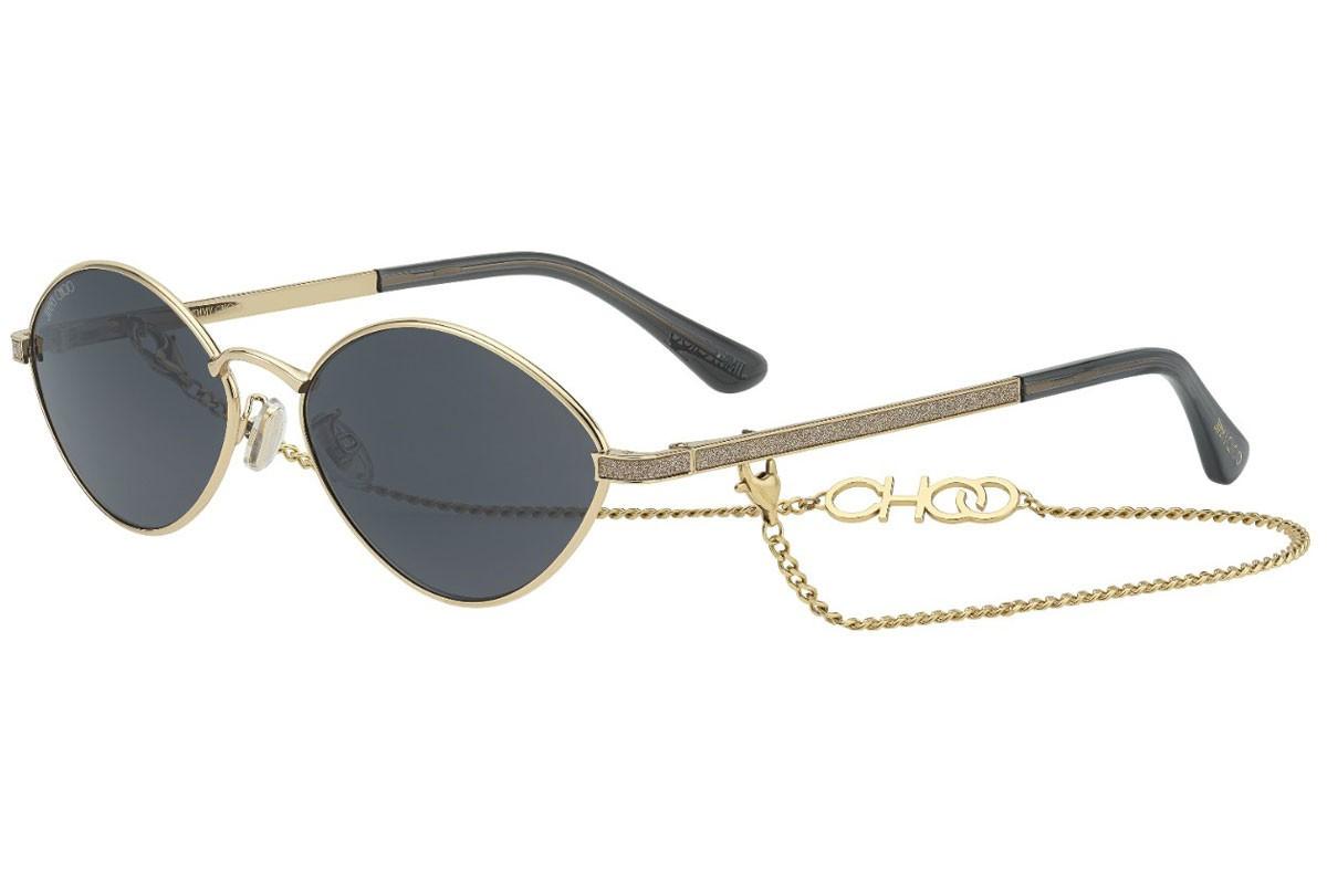 Óculos de Sol Jimmy Choo Dourado SONNY/S - 2F7/IR/58