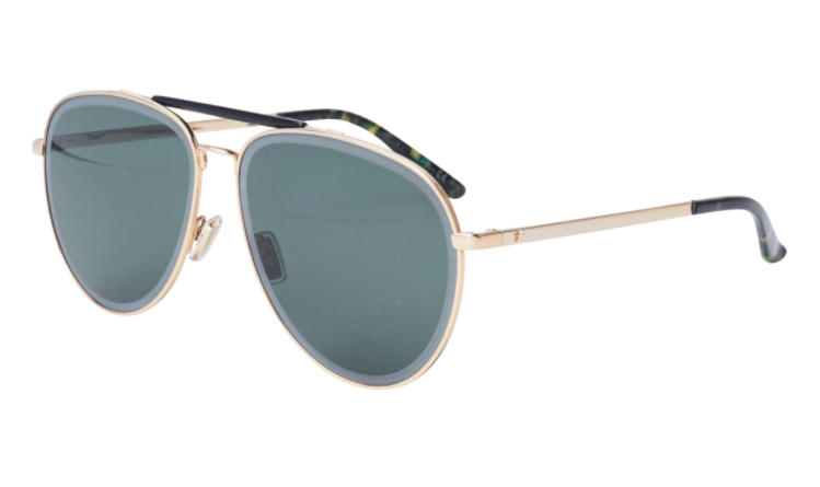 Óculos de Sol Jimmy Choo Preto/Dourado Fin/S - RHLQT/63