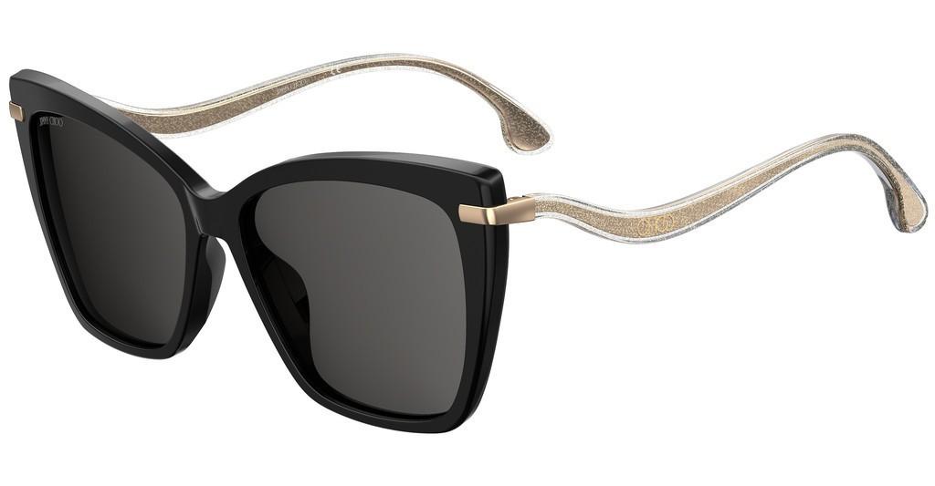 Óculos de Sol Jimmy Choo Preto/Dourado Selby/G/S - 807/M9/57 Polarizado