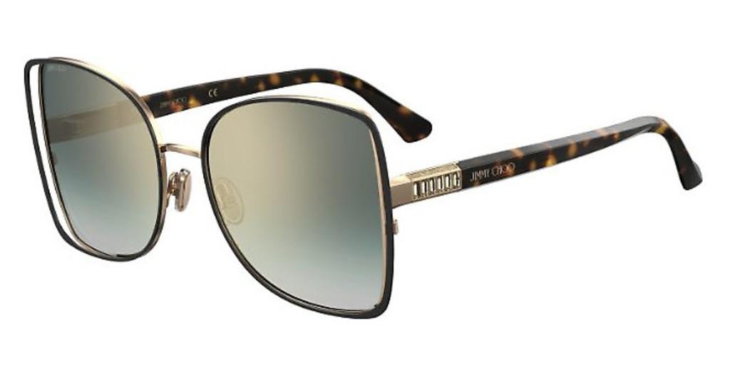 Óculos de Sol Jimmy Choo Preto/Havana Frieda/S - XWYEZ/57