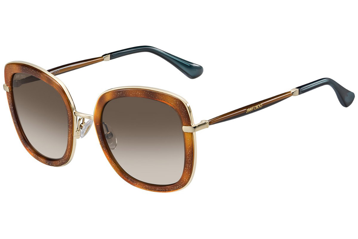 Óculos de Sol Jimmy Choo Tartaruga/Dourado Glenn/S - QAN/J6/52