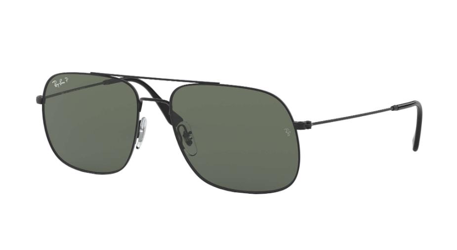 Óculos de Sol Ray-Ban Andrea Preto RB3595L - 90149A/59 Polarizado