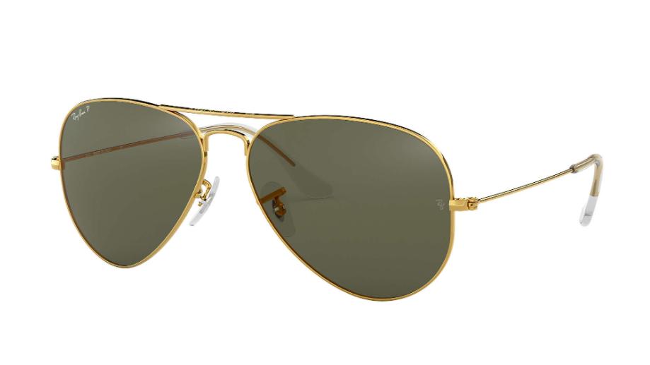 Óculos de Sol Ray-Ban Aviator Dourado RB3025L - 001/58/58 Polarizado