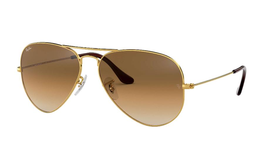 Óculos de Sol Ray-Ban Aviator Gradiente Dourado RB3025L - 001/51/62