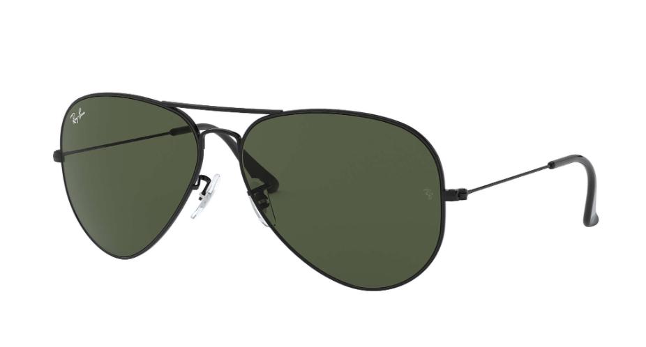 Óculos de Sol Ray-Ban Aviator Large Metal II Preto RB3026L - L2821/62