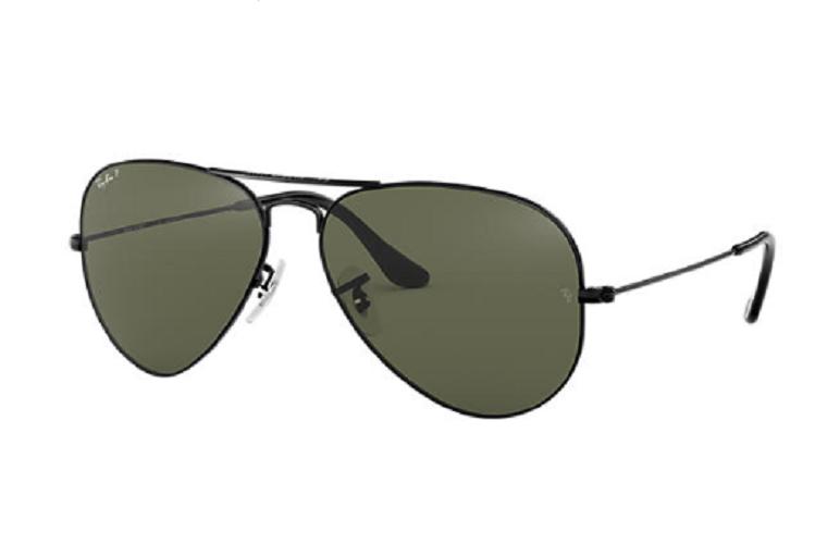 Óculos de Sol Ray-Ban Aviator Preto RB3025L - 002/58/62 Polarizado