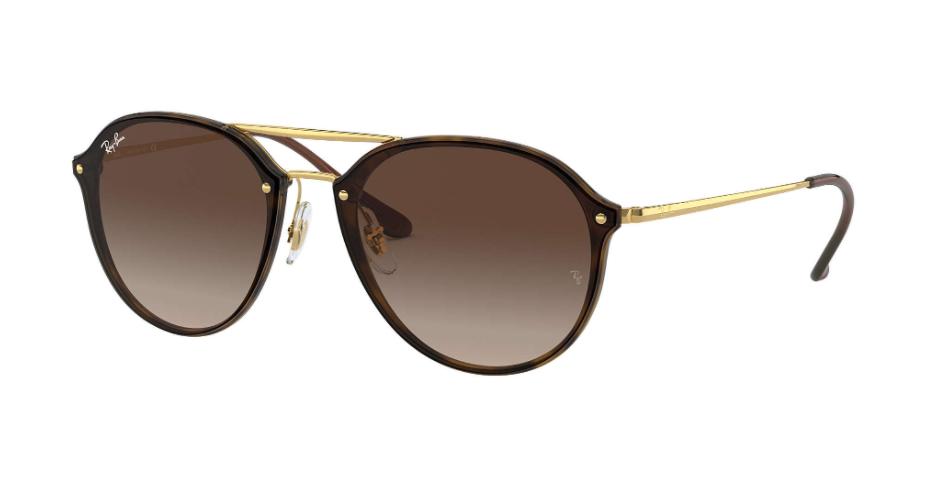 Óculos de Sol Ray-Ban Blaze Double Bridge Tartaruga/Dourado RB4292N - 710/13/61