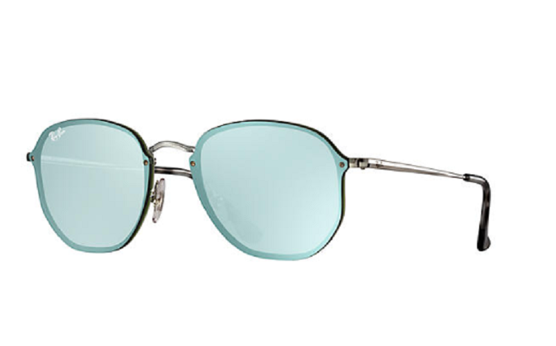 Óculos de Sol Ray-Ban Blaze Hexagonal Prata/Verde RB3579N - 003/30/58 Espelhado