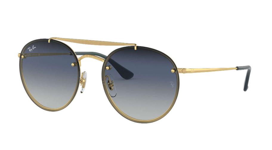 Óculos de Sol Ray-Ban Blaze Round Double Bridge Dourado RB3614N - 91400S/54