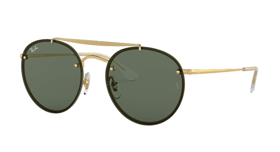 Óculos de Sol Ray-Ban Blaze Round Double Bridge Dourado RB3614N - 914071/54