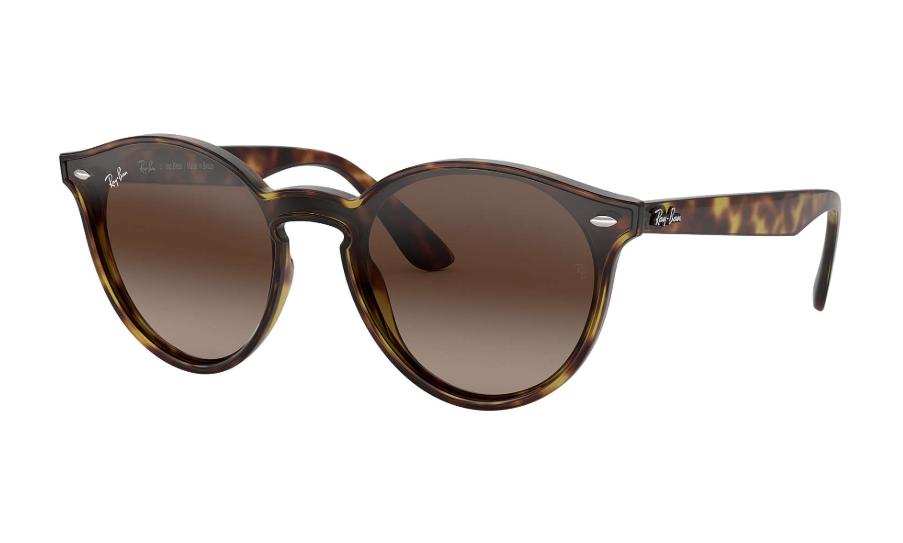 Óculos de Sol Ray-Ban Blaze Round Tartaruga RB4380NL - 710/13/37 Espelhado