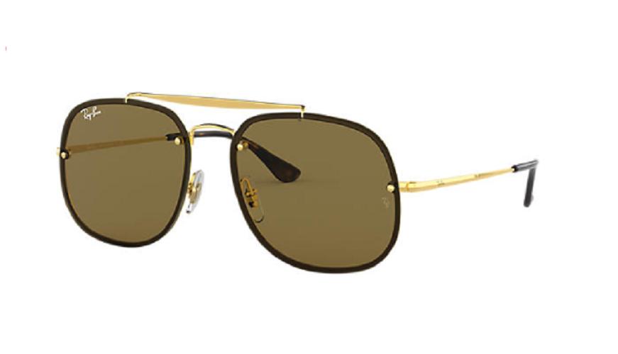 Óculos de Sol Ray-Ban Blaze The General Dourado RB3583N - 001/73/58